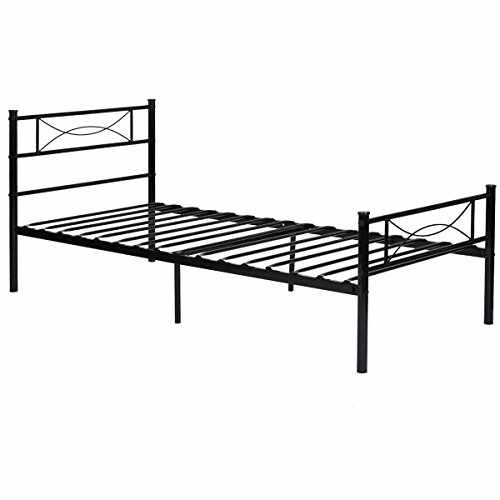 Yanni Premium Modern Easy Set-Up Steel Platform Bed Frame,Twin ...